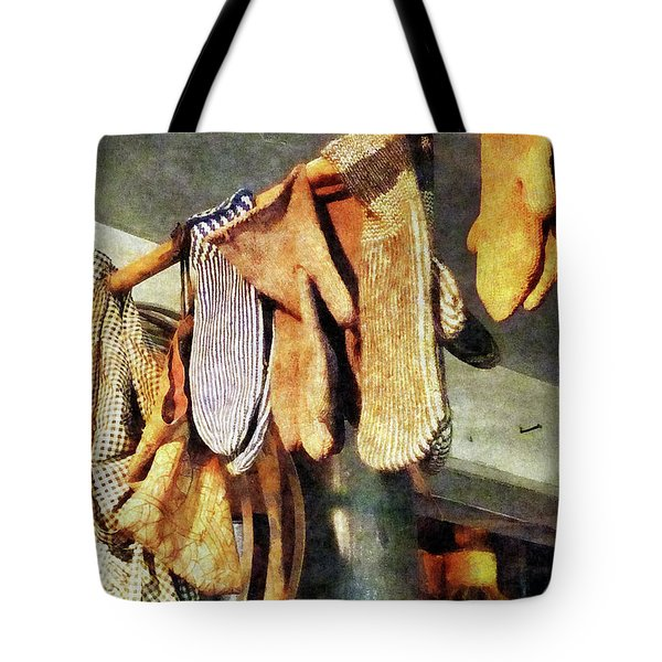 Mittens In General Store Tote Bag by Susan Savad