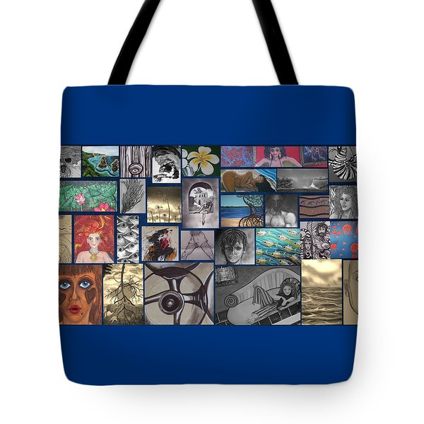 Mix It Up Collage Tote Bag