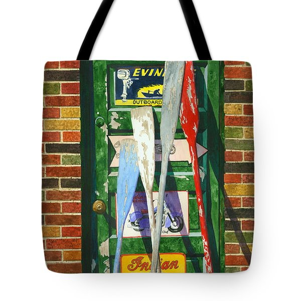Mix Oar Match Tote Bag by Marguerite Chadwick-Juner