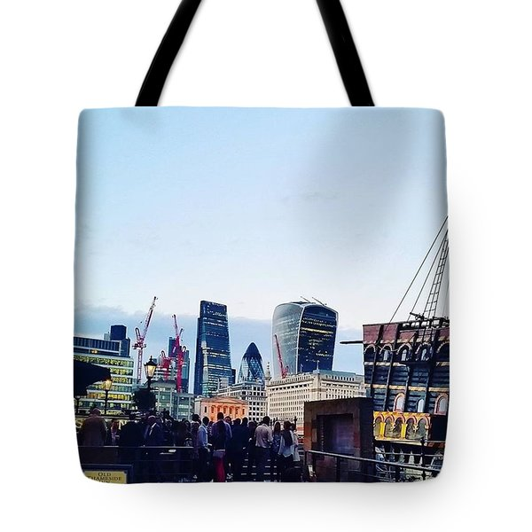 Mix Of Old And New In London Tote Bag