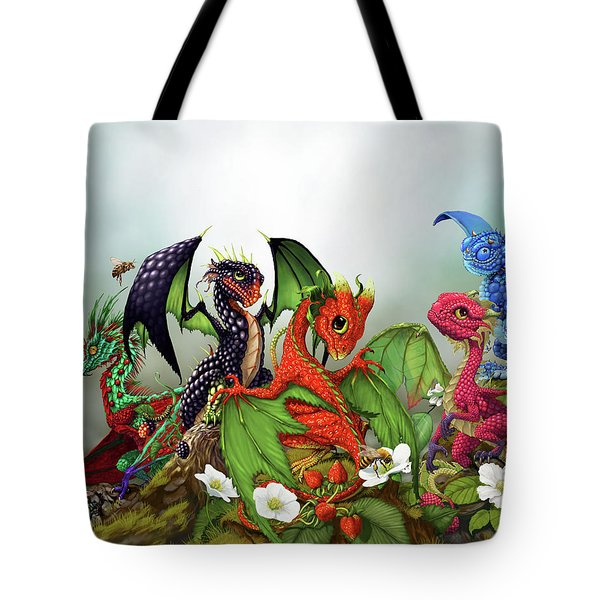 Mixed Berries Dragons Tote Bag