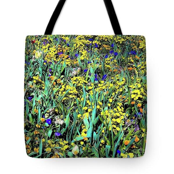 Mixed Flower Garden 515 Tote Bag