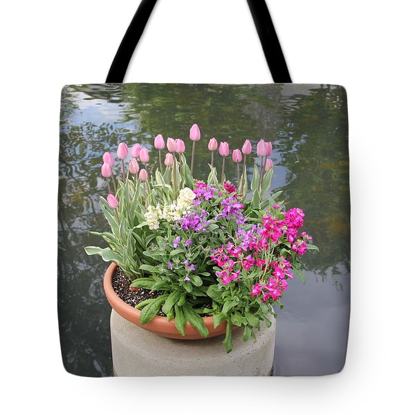 Mixed Flower Planter Tote Bag