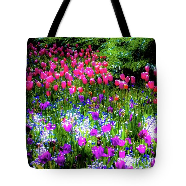 Mixed Flowers And Tulips Tote Bag
