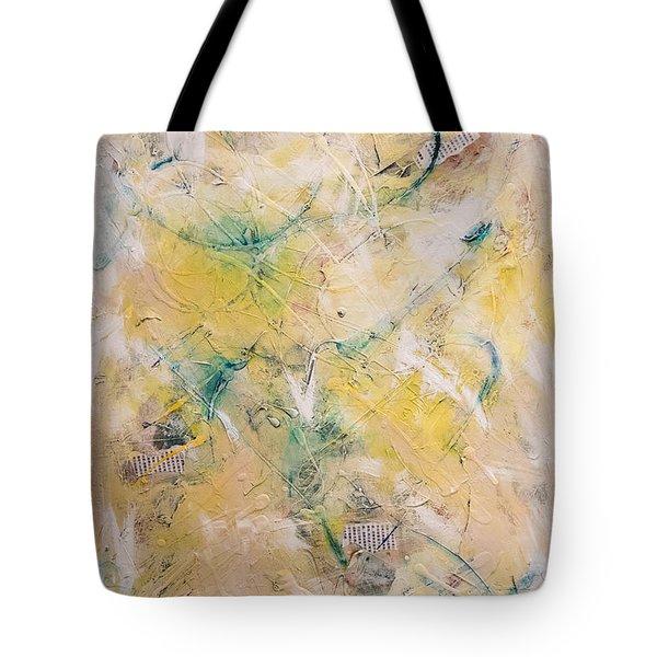 Mixed-media Free Fall Tote Bag