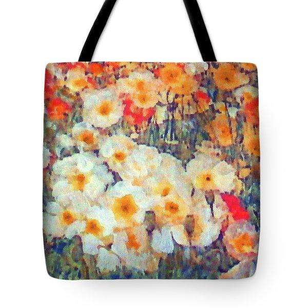 Mixed Poppies Tote Bag
