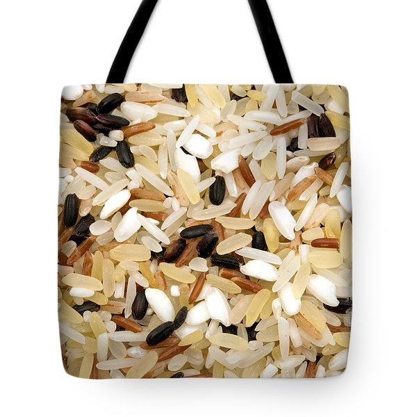 Mixed Rice Tote Bag by Fabrizio Troiani