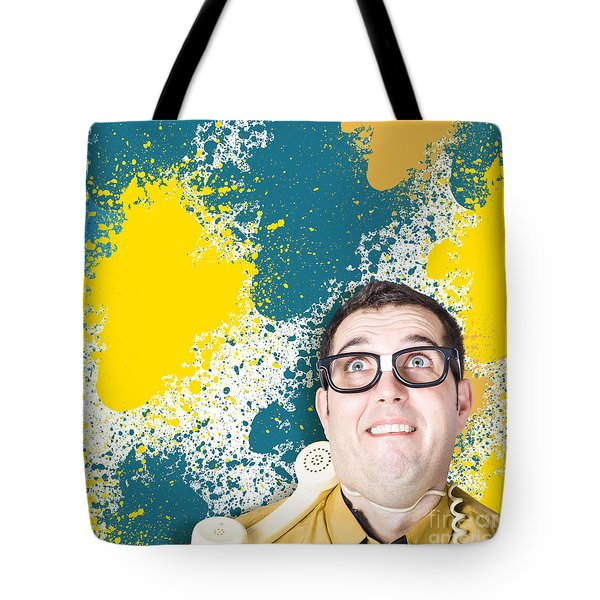 Mixed Up Graphic Designer Struggling With Client Tote Bag