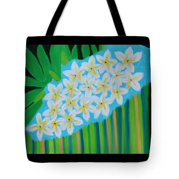 Mixed Up Plumaria Tote Bag