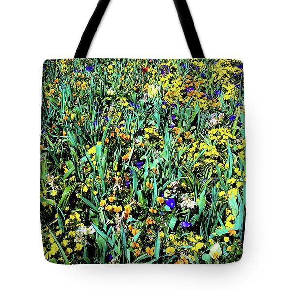 Mixed Wildflowers In Texas Tote Bag