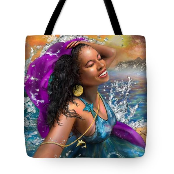 Tote Bag featuring the digital art Mizu by Dedric Artlove W