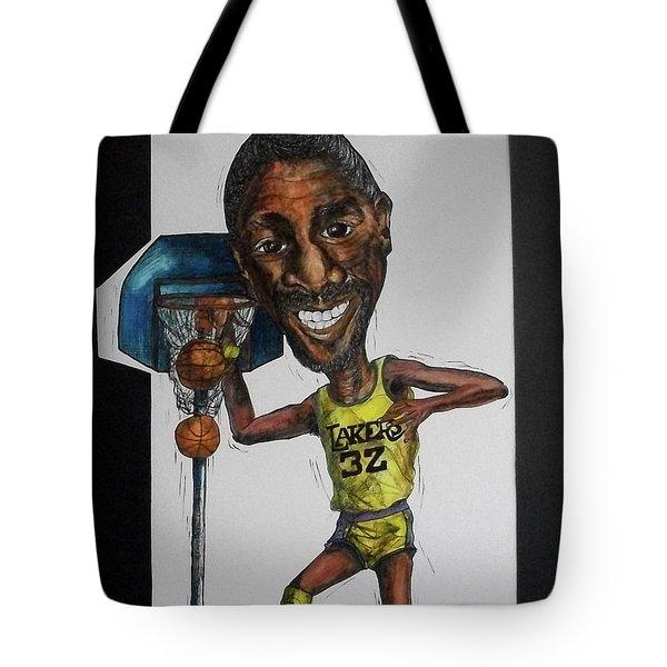 Mj Caricature Tote Bag