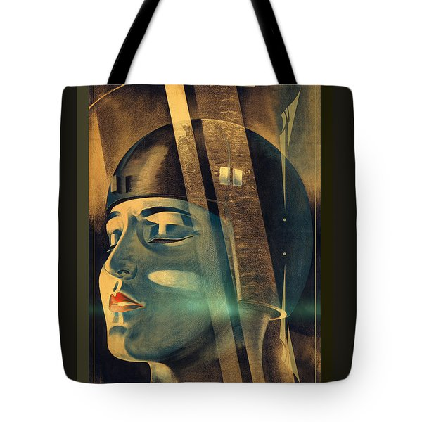 Metropolis Maria Transformation Tote Bag by Robert G Kernodle