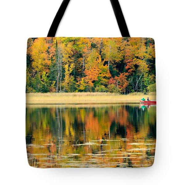 Mn Fall Fishing Tote Bag