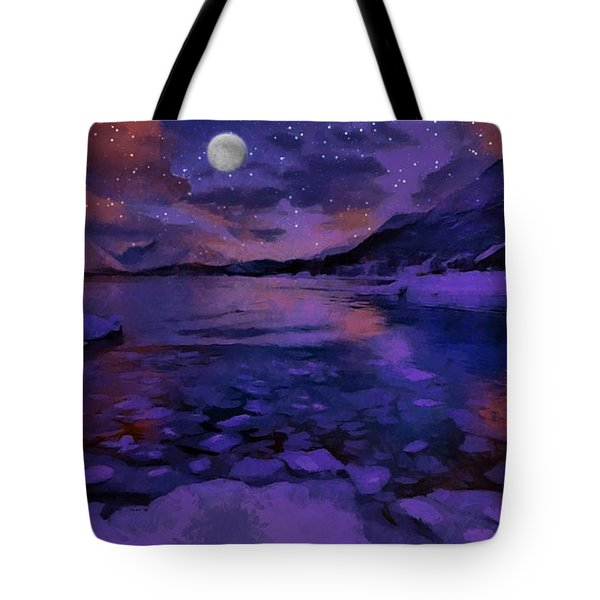 Mnon Over The Frozen Lands Tote Bag
