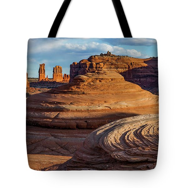 Moab Back Country Panorama 2 Tote Bag
