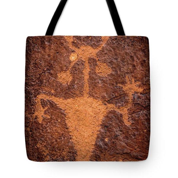Moab Man Petroglyph Portrait - Utah Tote Bag