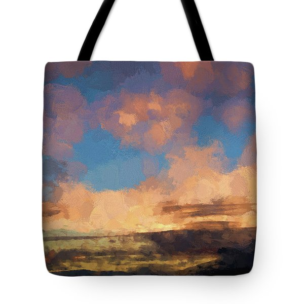 Moab Sunrise Abstract Painterly Tote Bag