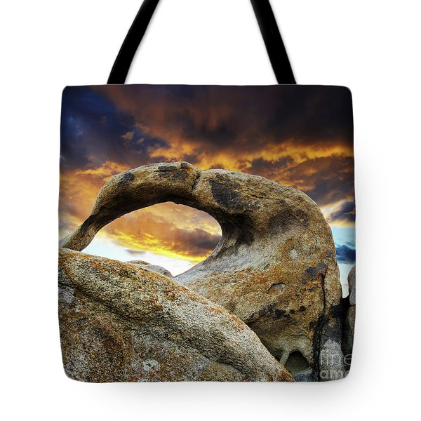 Tote Bag featuring the photograph Mobious Arch California 7 by Bob Christopher
