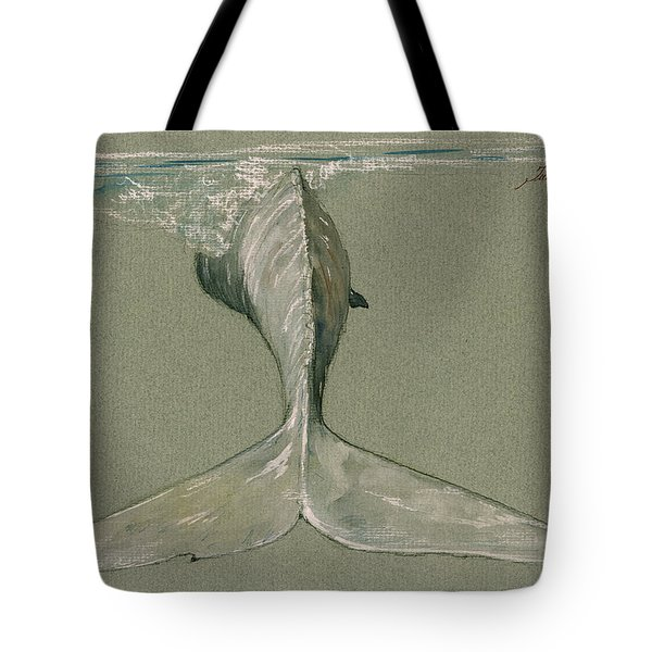 Moby Dick The White Sperm Whale  Tote Bag