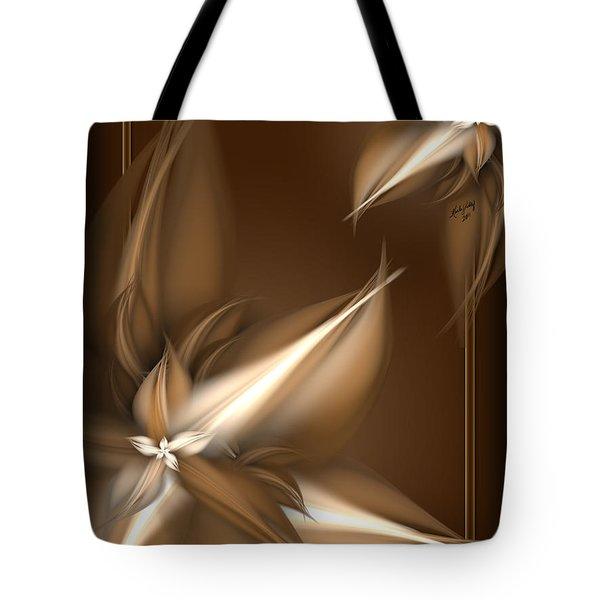 Mocha Cream Swirl Tote Bag