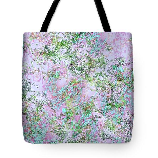 Mock Floral Purple Teal Tote Bag