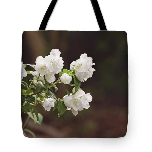 Tote Bag featuring the photograph Mock Orange Blossoms by Kim Hojnacki