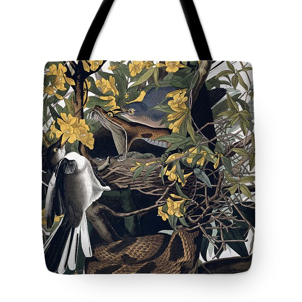 Mocking Birds And Rattlesnake Tote Bag by John James Audubon
