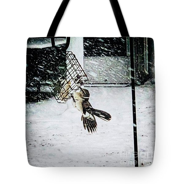 Tote Bag featuring the photograph Mockingbird by Donald Paczynski