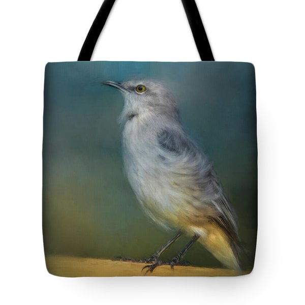 Mockingbird On A Windy Day Tote Bag