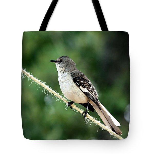 Mockingbird On Rope Tote Bag