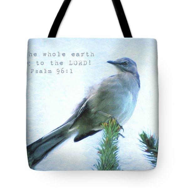 Mockingbird Scripture Tote Bag