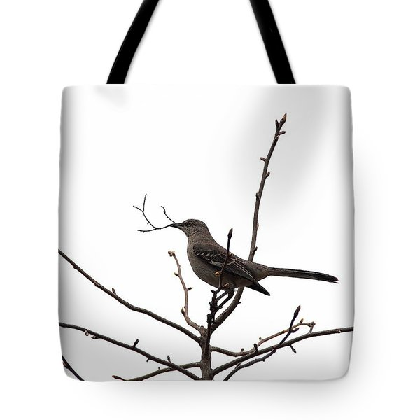Mockingbird With Twig Tote Bag