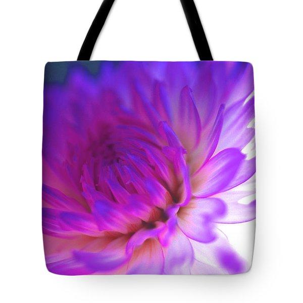 Mod Dahlia Tote Bag by Kathy Yates