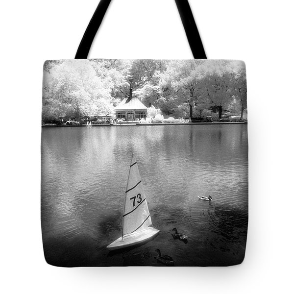 Model Boat Lake Central Park Tote Bag