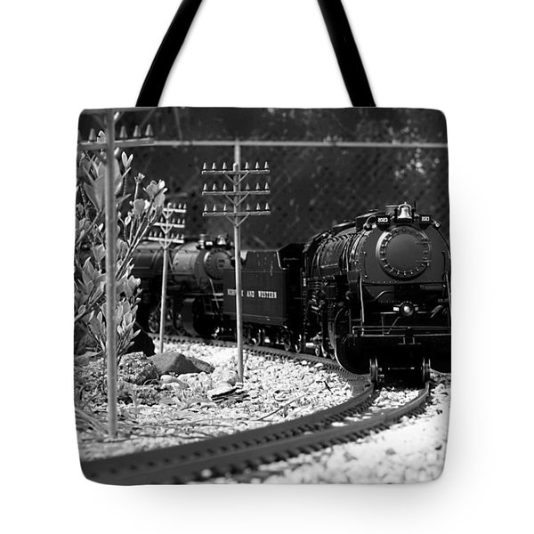 Model Locomotive Tote Bag by Debra Forand