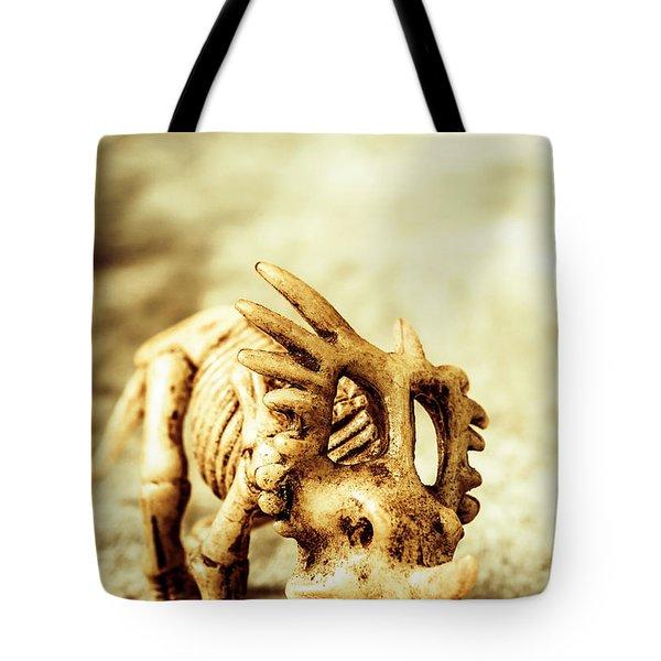 Model Styracosaurus Skeleton Tote Bag