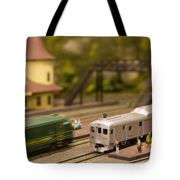 Tote Bag featuring the photograph Model Trains by Patrice Zinck