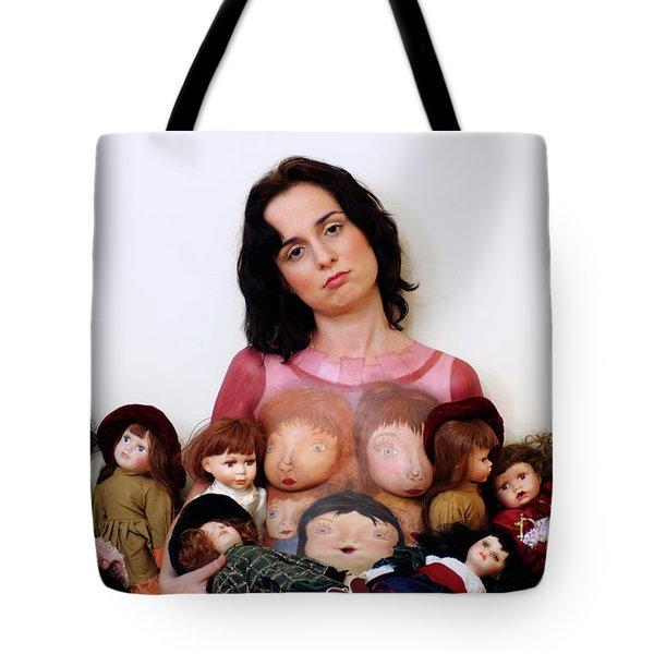 Model With Porcelain Dolls 2 Tote Bag