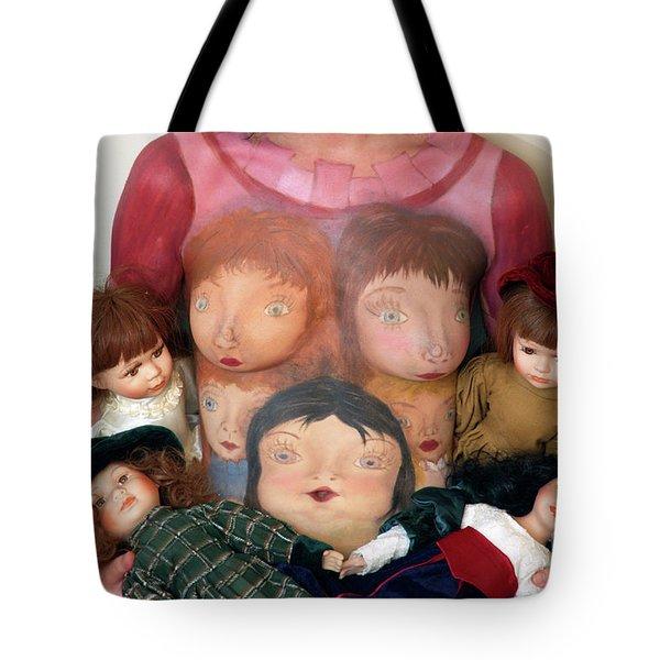 Model With Porcelain Dolls 4 Tote Bag