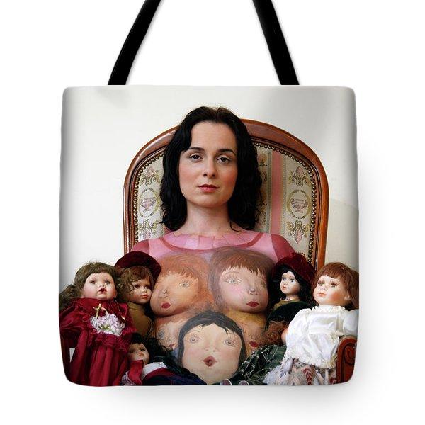 Model With Porcelain Dolls Tote Bag