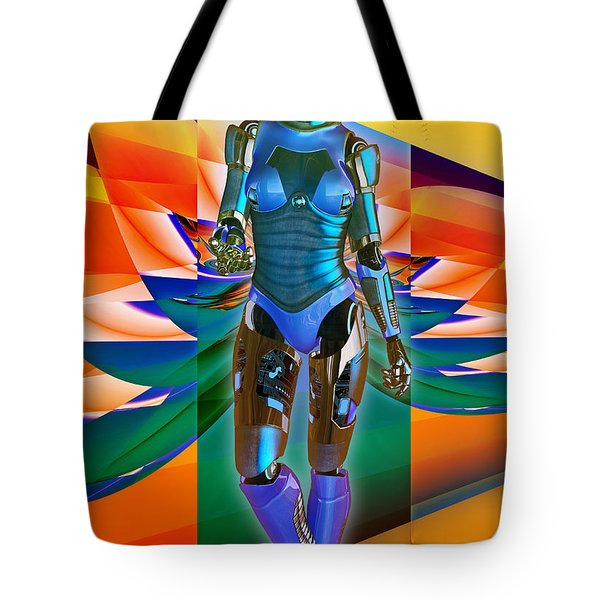 Tote Bag featuring the digital art Model Zp23 by Shadowlea Is