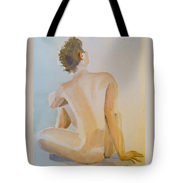 modell akvarell 2013 04 20-21 1 foto 143 Up to 51 x 76 cm Tote Bag