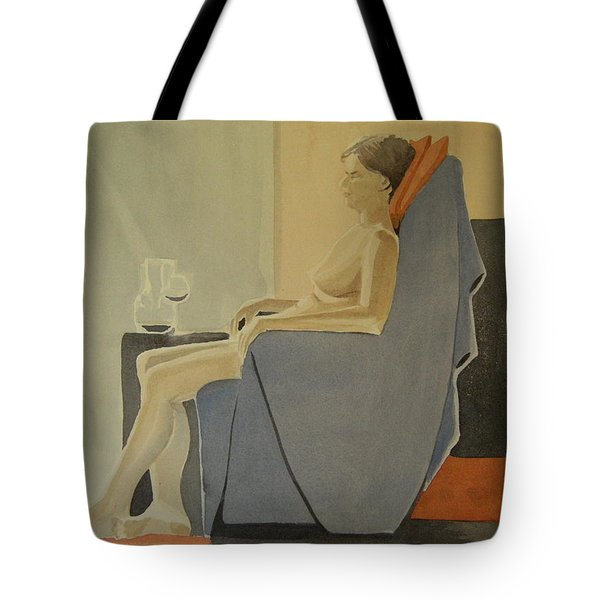 Modell Akvarell 2013 06 15-16 133 Tote Bag