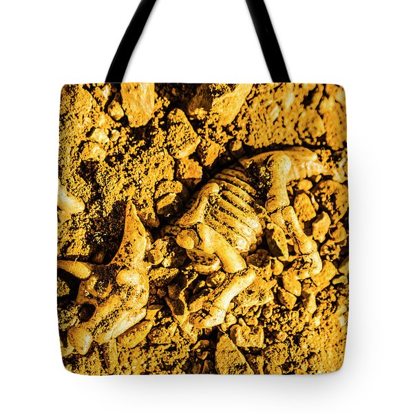 Modelling A Triceratops Fossilised Recovery Tote Bag