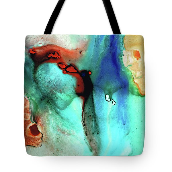 Tote Bag featuring the painting Modern Abstract Art - Color Rhapsody - Sharon Cummings by Sharon Cummings