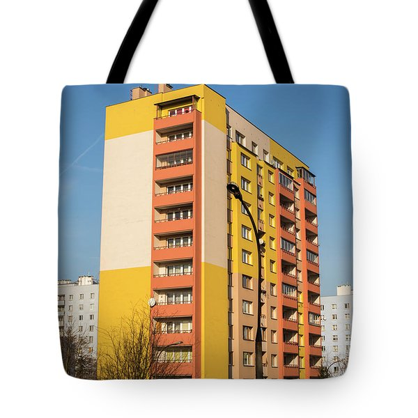 Tote Bag featuring the photograph Modern Apartment Buildings by Juli Scalzi
