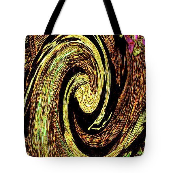 Tote Bag featuring the digital art Modern-art Digital Conversion Of Chinese Tapestry Needlework by Merton Allen