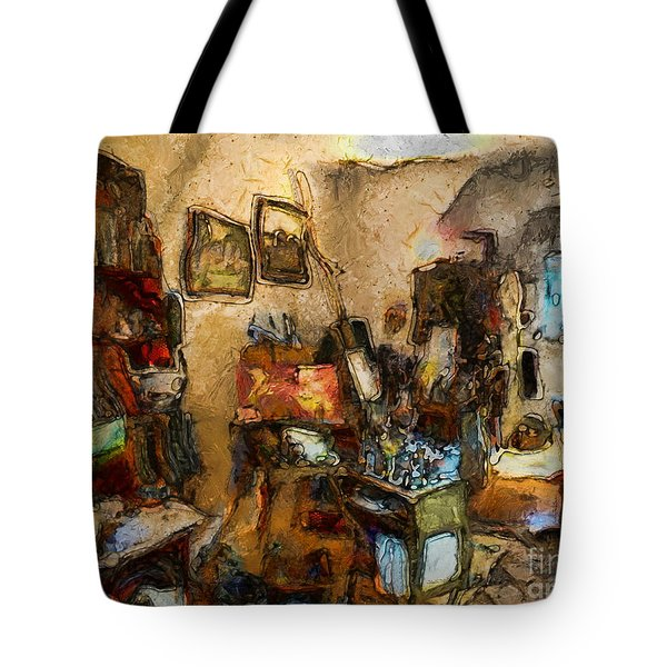 Modern Art Studio Tote Bag