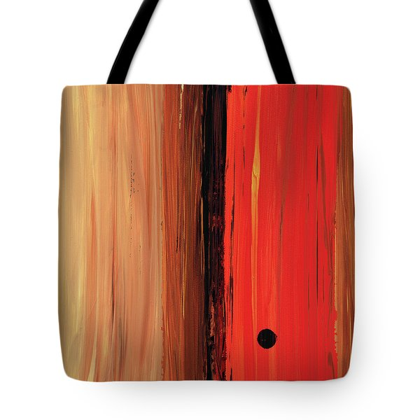 Tote Bag featuring the painting Modern Art - The Power Of One Panel 1 - Sharon Cummings by Sharon Cummings